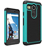 LG Nexus 5X Rugged Impact Heavy Duty Dual Layer Shock Proof Case Cover Skin - Teal