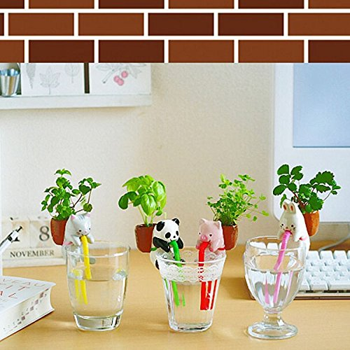 Mini Auto Water Absorption Animal Potted Plants Office Desktop Plant,Animal Panda