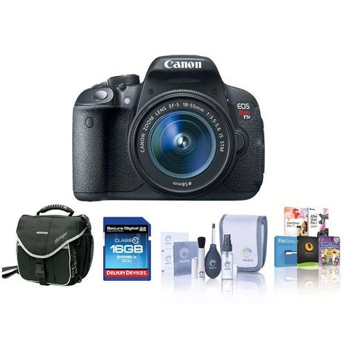 Canon EOS Rebel T5I DSLR Camera Bundle.USA. Value Kit with