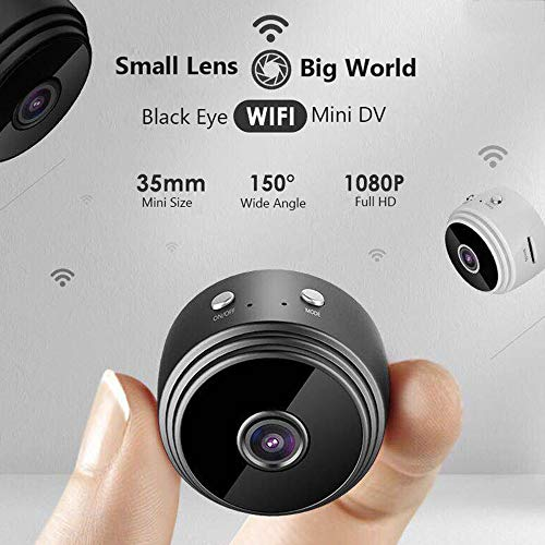 HUIGE Mini Cámara Cámara Oculta con WiFi, Cámara Inalámbrica De Alta Definición con Cámara De Interior HD 1080P para Cámaras Pequeñas/Niñera: Amazon.es: ...