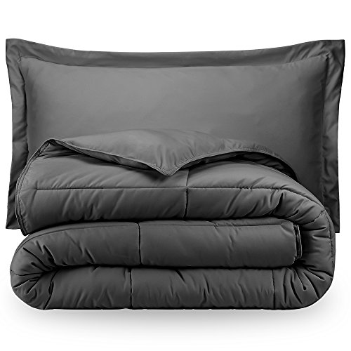The Best Essential Home Down Alternative Comforter  Charcoal