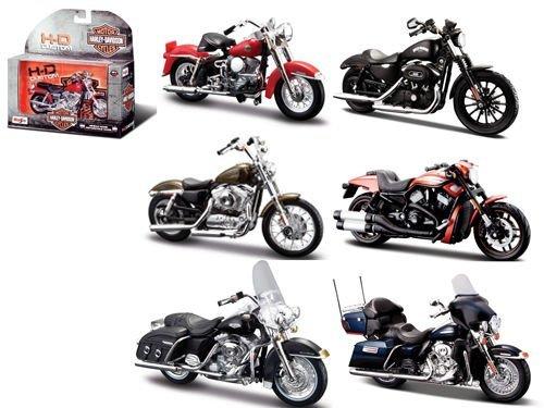 Harley Davidson Motorcycle 6pc Set Series 33 1/18 by Maisto 31360-33