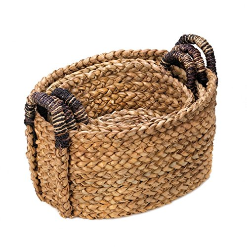 Smart Living Company Rustic Woven Nesting Baskets-3 PC. Set 3