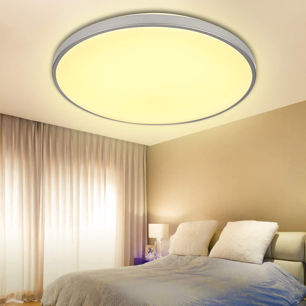 VINGO 16W LED kaltWeiß Badezimmerlampe Wohnraumleuchten Wand-Deckenleuchte Innenleuchte Beleuchtung Ultraslim Küche Büro Schlafzimmer, Kunststoff A-1-HG4414