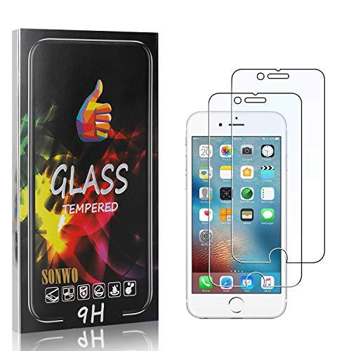 SONWO Schutzfolie Kompatibel für iPhone SE 2020 / iPhone 6S / iPhone 6, Anti-Kratzen Displayschutzfolie für iPhone SE 2020 / iPhone 6S / iPhone 6, 2 Stück