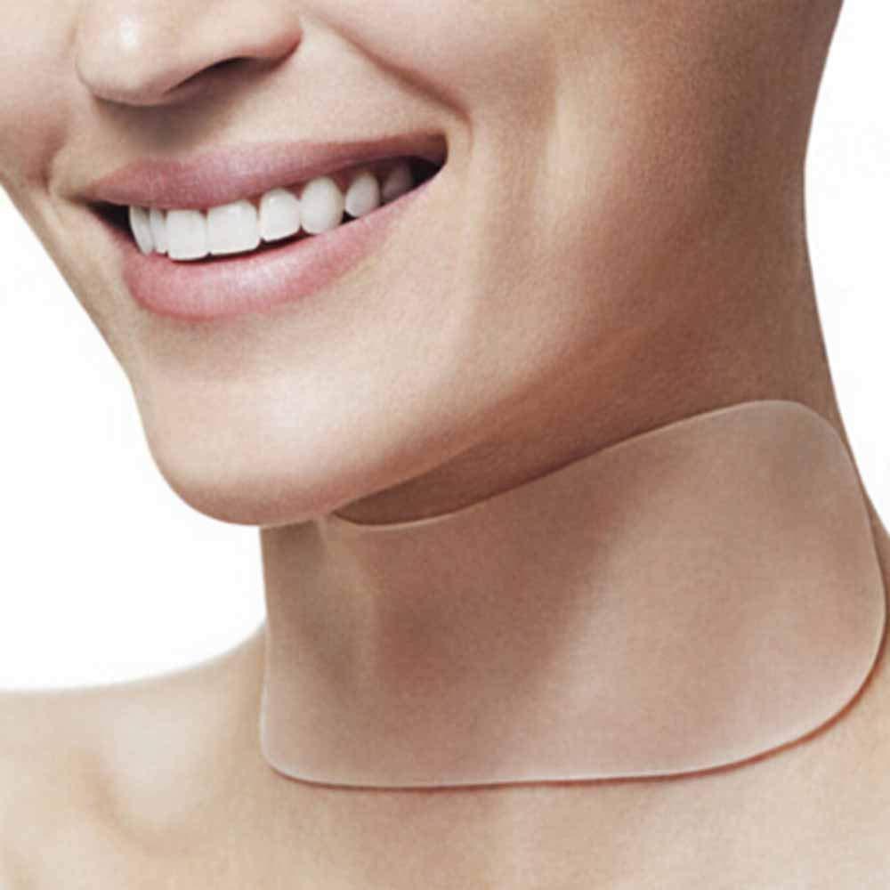 Bescita Neck Silicone Care Pad Anti Wrinkle Aging Reusable Transparent Pads Bescita1