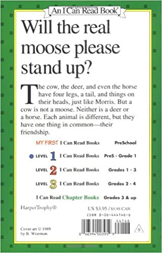 Amazon.com: Morris the Moose (I Can Read Level 1) (9780064441469 ...