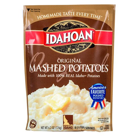 Idahoan Original Mashed Potatoes, Idaho Grown, 100% Real - (6.2oz)