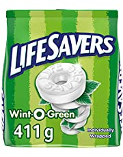 Life Savers Mints, Wint-O-Green, Wintergreen Flavoured Mints, Bag,, 411 Grams