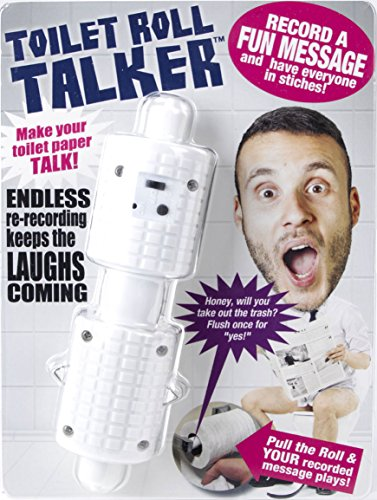 Recordable Toilet Roll Talker - Bathroom Prank - Makes Your Regular Toilet Paper Talk - Surprise Friends & Family With a Custom Message - Record up to 10 Secs of Audio - Best TP Gag Gift (Elephant Games White Christmas For)