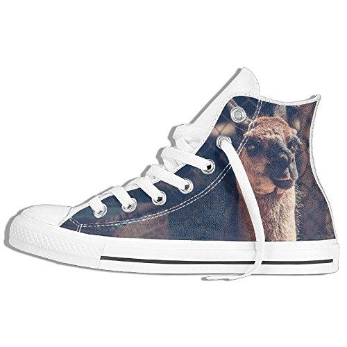 Baskets Montantes Classiques Chaussures De Toile Anti-dérapant Camel Look Clôture De Marche Occasionnels Pour Hommes Femmes Blanc