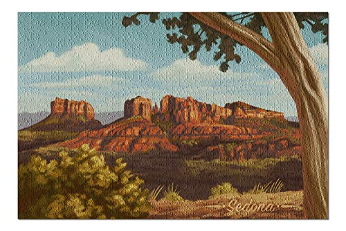 (Sedona, Arizona - Canyon Oil Painting (20x30 Premium 1000 Piece Jigsaw Puzzle, Made in USA!))