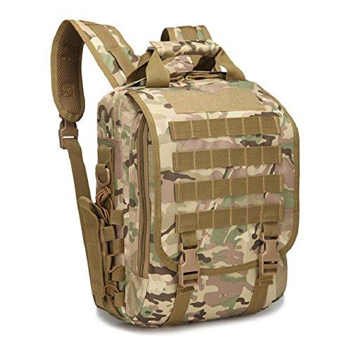 ZX&Q Oxford Tactical Camouflage al aire libre alpinismo camping ligero impermeable transpirable Wearable pequeño tipo solo paquete de hombro,B,20L C