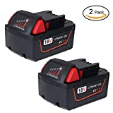Bingogous 2 Pack M18 18V 5.0Ah Lithium-ion Replacement Battery for M18 XC Red Lithium M18B 48-11-1820 48-11-1850 48-11-1828 48-11-1815 Cordless Power Tools