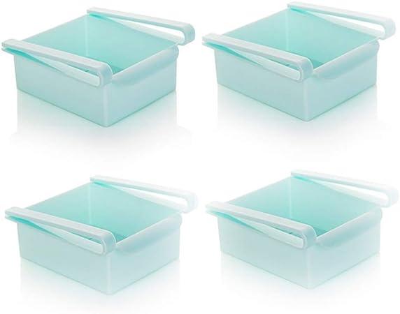 Refrigerador Caja de Almacenamiento extraíble Nevera Almacenamiento Rack Cocina Vegetal y Frutas preservación Capa Separador Caja de Almacenamiento (4Pcs),Blue: Amazon.es: Hogar