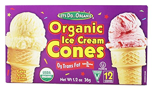 Let's Do Organics Organic Ice Cream Cones (1 x 2.3oz)