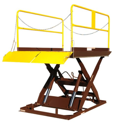 Beacon-Truck-Scissor-Dock-Lifts-Platform-Size-WxL-48-x-96-Lowered-Height-8-Raised-Height-68-Capacity-LBS-5000-Overall-Frame-Size-41W-x-93L-Model-BWL-100-5-48