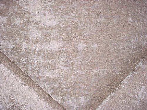 - 98RT23 - Luxurious Light Silvery Grey Gray Plush Crushed Chenille Upholstery Drapery Fabric - By the Yard