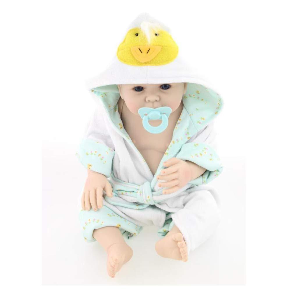 Babypuppe Reborn Körper Silikon Vinyl Puppe Augen Öffnen Baby Kinder Spielzeug Kinder Geburtstag 19 Zoll 50Cm
