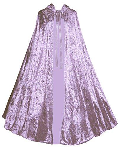 Victorian Vagabond Gothic Renaissance Steampunk Velvet Cape Cloak Lilac