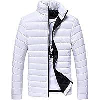 Evokems Manteau d'hiver à Manches Longues pour Hommes avec col Montant Manteaux