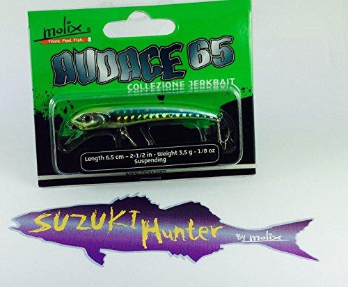 Molix Audace artificial 65 Suspendiendo señuelos equipo pesca AU65SP-28 VERDE