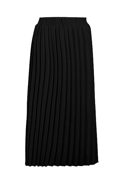c697ffed9 Boohoo Womens Neave Textured Crepe Pleated Midi Skirt in Black size ...