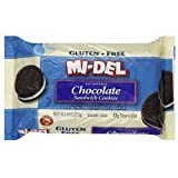 Mi-Del Gluten Free Chocolate Sandwich Cookies, 8-Ounce Packages (Pack of 12)