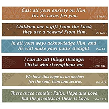 Home And Beyond Christian Magnets Inspirational Bible Verse Kitchen Set Of 6 On Flexible Refrigerator