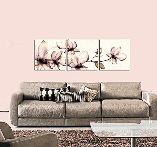 Artistic Transparent Flowers Modern Art Wall Art Wall Decorative Canvas Print Set Of 3 (no frame)