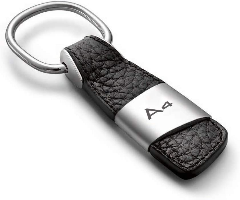 aikeec Metal Leather Car Ring Keychain Keyfob for Audi A3 A4 A5 A6 A7 Q3 Q5 Q7 TT