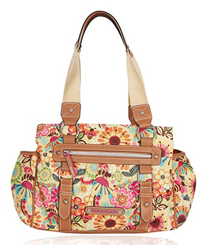 Bee Accessory - Lily Bloom Triple Section Landon Multi-Purpose Satchel Bag (Busy Bee)