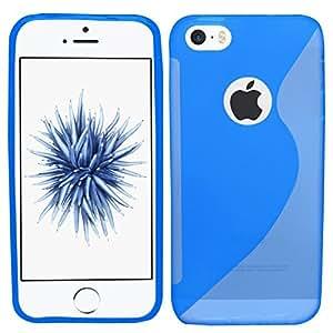 Samrick S Wave - Carcasa para Apple iPhone 5 y 5S (hidrogel), color azul