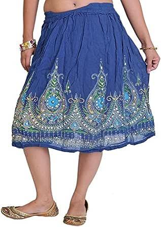 Exotic pantalón corto falda India portátil con Tapa con diseño de ...