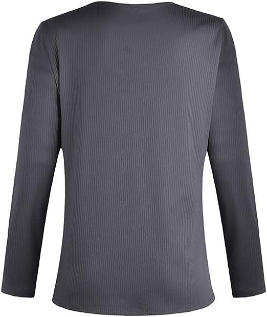 Discount Boutique Camisa de Manga Larga con Cuello Redondo para ...