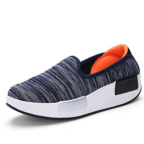 Kvinna Mode Sneakers Duk Andas Halka På Skor Från Btrada Grå Apelsin