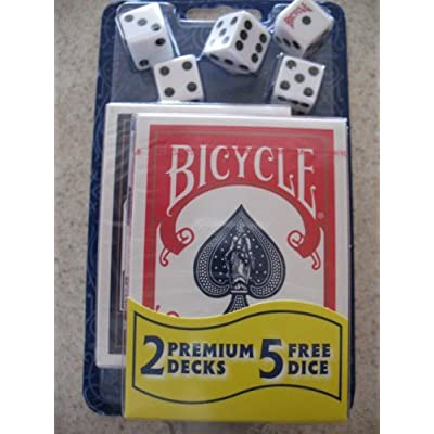 Bicycle 2 Premium Decks Playing Cards Includes 5 Free Dice: Sports & Outdoors