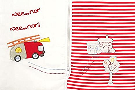 Amazon.com: Slumbersafe Winter Toddler Sleeping Bag Long Sleeves 3.5 Tog - Fire Engine, 18-36 months/LARGE: Baby