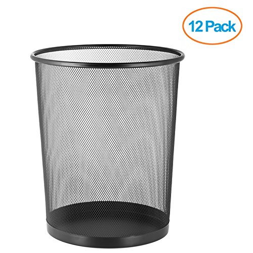 Halter Large Mesh Metal Wastebasket - 14