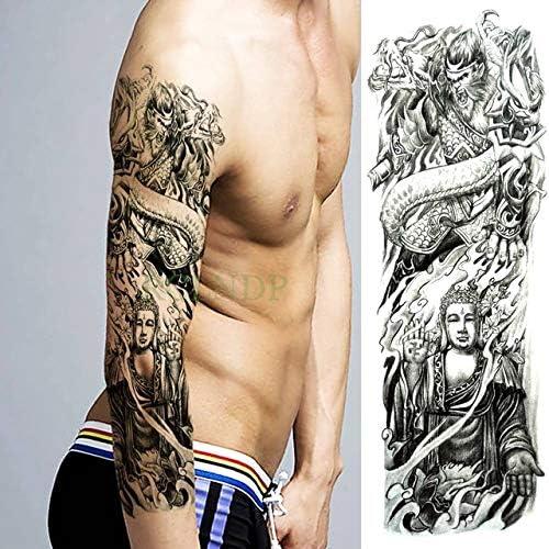 3 Piezas de Tigre Tatuaje Impermeable Etiqueta Flor de Loto de ...