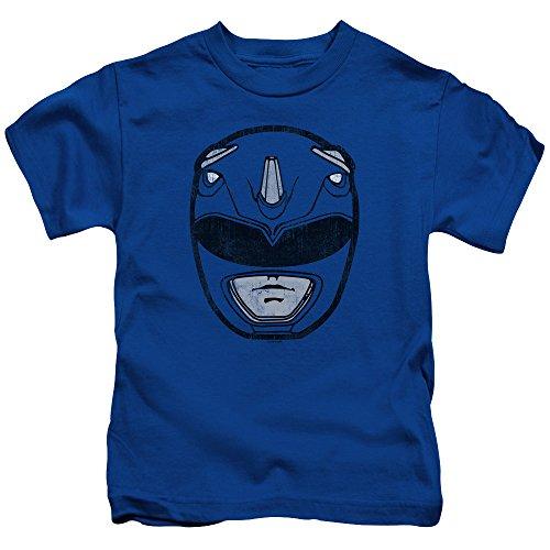 Power Rangers Blue Ranger Mask Unisex Youth Juvenile T-Shirt For Girls and Boys ()