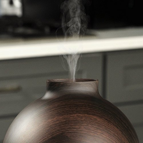 Extra Large Essential Oil Diffuser Holds a Big 20 FL OZ / 600 ml. Lasts All Night, Very Quiet. Mist Humidifier Aromatherapy Machine for Office Home Bedroom Study Yoga Spa (Dark Brown). … by Vida Essentials (Image #5)