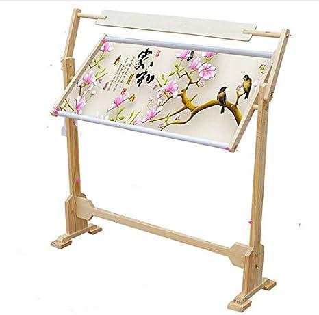 Malerei auf Seide Stickerei Kreuzstich 50/cm//80/cm L Quilten Rahmen-Boden f/ür Stickerei Yosoo Rahmen von Boden