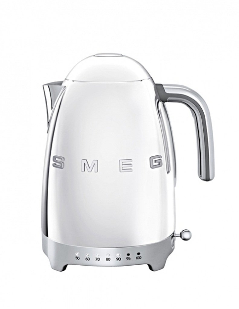 SMEG Calentador de Agua electrico, hervidor KLF04SSEU, 2400 W, 1.7 litros, De plástico, Acero Inoxidable, Cromo: Amazon.es: Hogar