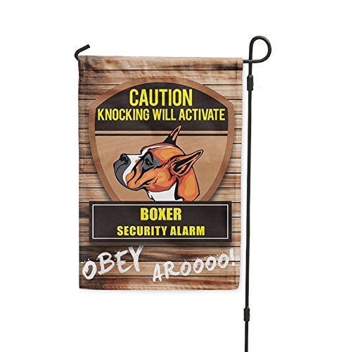 Knocking will activate BOXER DOG Yard Patio House Banner Gar