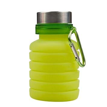 sinbrl plegable botella, sin BPA, plegable botella de agua silicona, antigoteo, plegable