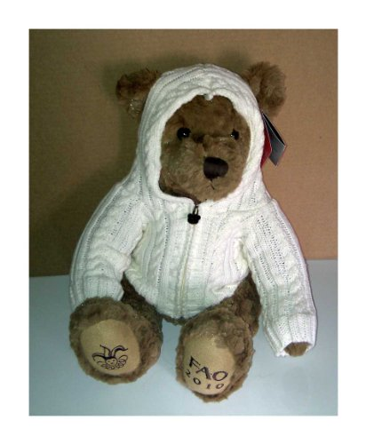 Fao Schwarz 2010 Limited Edition Collectible Teddy Bear with Knitted Sweater