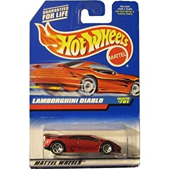 Amazon Com Hot Wheels Maroon Lamborghini Diablo 5 Spoke 1998 Coll