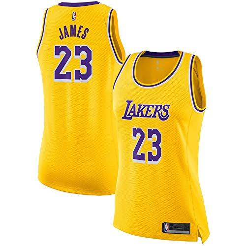 La Lakers Basketball Jersey - #23 Lebron James Los Angeles Lakers Women's Swingman Jersey - Gold - Icon Edition M