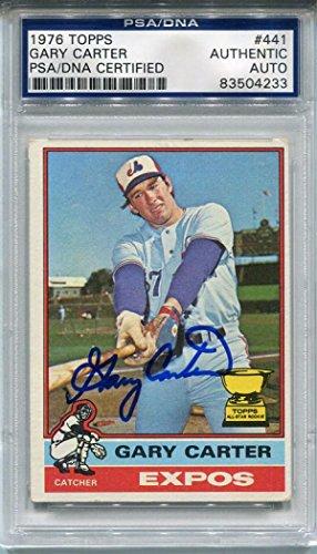 1976 Topps Autographed Baseball Card (Gary Carter Autographed 1976 Topps Card (PSA/DNA) - Baseball Slabbed Autographed Cards)